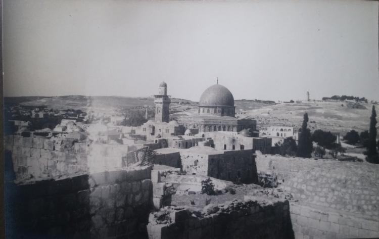Album with More than 150 High-Quality, Beautiful Photographs of a French Photographer - Jerusalem and the Land of Israel, 1925 - Includes Extremely Rare Photographs of the Arabic Response to Balfour's Visit to Israel and the Opening of the Hebrew University