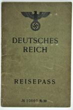Nazi Passport of a Jewess - Stamps ? Frankfurt 1940 ? German, Italian and English