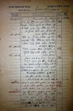 Leaves of an Operations Log - The Police of the Hebrew Settlements - March, 1941