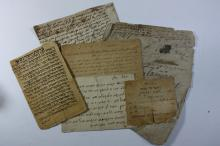 A Collection of Leaves, Letters, Religious Letters and Documents - 1800's