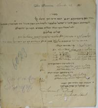 Important Documents and Letters - The Rabbis of Jerusalem