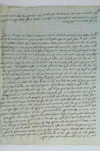 A Long Halachic Responsum in the Handwriting of Rabbi Yaakov Kazis to Rabbi Rabbi Azarya Chaim Sanjointi - Mantova, 1794