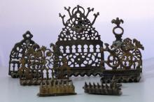7 Old Hanukkah Lamps - North-Africa Style