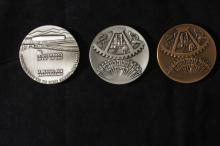 3 Special Bronze Medals - Israel Coins and Medals Corp - Have not been Sold to the General Public