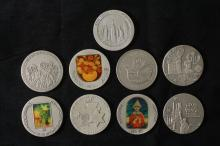 9 Silver Medals - Israel Coins and Medals Corp