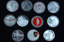 Series of 11 Silver Medals IDF - Israel Coins and Medals Corp