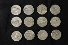 Series of 12 Silver Medals
