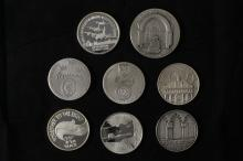 8 Silver Medals - Israel Coins and Medals Corp