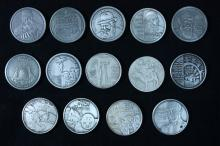 Two Nice Judaica Sets - 14 Silver Medals - Israel Coins and Medals Corp