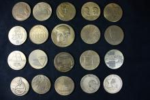 20 Bronze Medals 59 MM - Israel Coins and Medals Corp