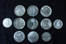 11 Silver Medals 59 MM - Israel Coins and Medals Corp