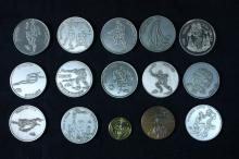 15 Bronze and Nickel Medals - Israel Coins and Medals Corp
