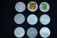 9 Silver Medals 49 MM - Israel Coins and Medals Corp - the 1990's