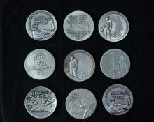 9 Silver Medals 59 MM - Israel Coins and Medals Corp - the 1960's-1970's