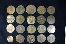 20 Bronze Medals 59 MM (One of Them 69 MM) - Israel Coins and Medals Corp
