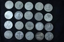 20 Silver Medals - Israel Coins and Medals Corp - the 1960's-1970's