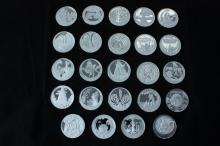 24 Pure Silver Medals (999.9 Silver Ounce Each) of the
