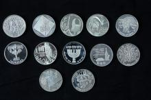 12 Silver Medals - Israel Coins and Medals Corp - the 1990's