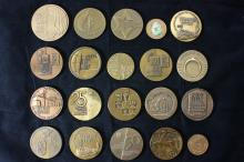 20 Bronze Medals (Most of Them 59 MM) - Israel Coins and Medals Corp