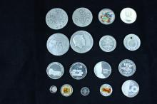 17 Silver Medals - Israel Coins and Medals Corp - the 1980's-1990's