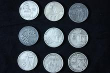 9 Silver Medals (Pure 999) of the