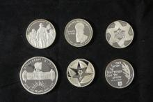 6 Silver Medals - Israel Coins and Medals Corp - the 2000's