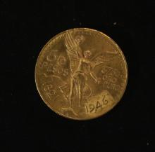 Golden Coin 50 Pesos - Mexico, 1946