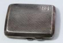 Jewish Cigarette Box - Silver - England, Birmingham, 1924