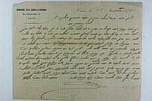 Letter Handwritten by Rabbi Sa'adon Rabuch the Rabbi of Verehan Morocco - 1875