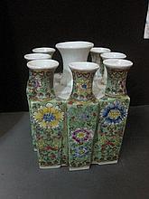 An Antique Chinese Qing Famille Rose Porcelain Vase
