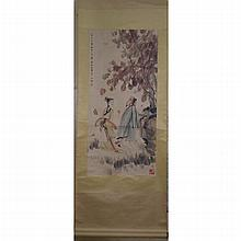 A Chinese Scroll Painting of Figures