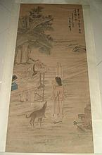 A Chinese Qing Scroll Painting of Figure