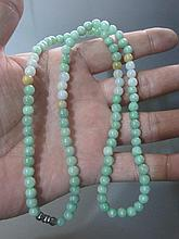 A Chinese Qing Jadite Beads Nacklace