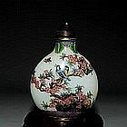 A Fine Antique Chinese Qing Peking Class Snuff Bottle