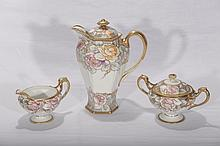 Three Piece Chocolate Tea Set