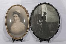 Two Black and White Victorian Pictures