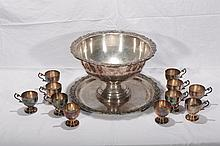 Large Silver-Plated Punchbowl