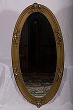 Large Ornate Oval Gilded Mirror