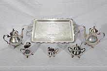 Good Silver Plate 5 Piece Tea Set