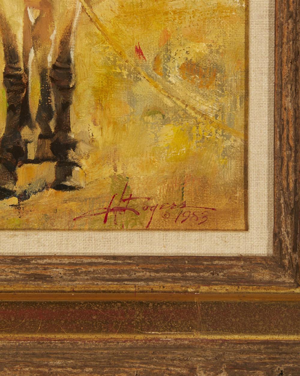 Howard Rogers, (b.1932, Cave Creek, AZ), Portrait of a Donkey, 1983, Oil on canvas, 12