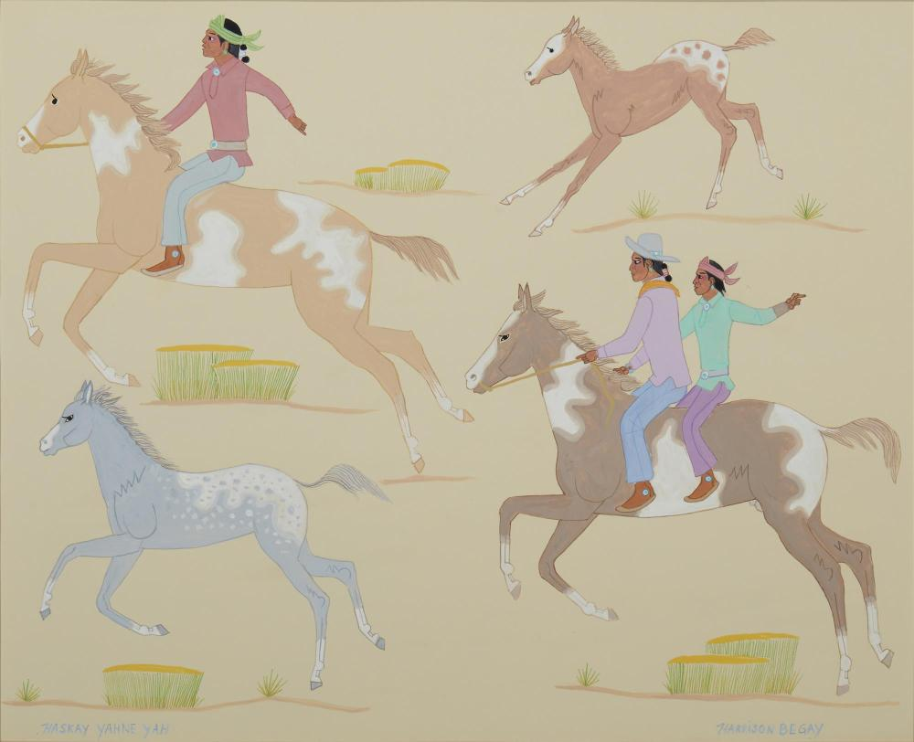 Harrison (Haskay Yahne Yah) Begay, (1914-2012, American/Navajo),