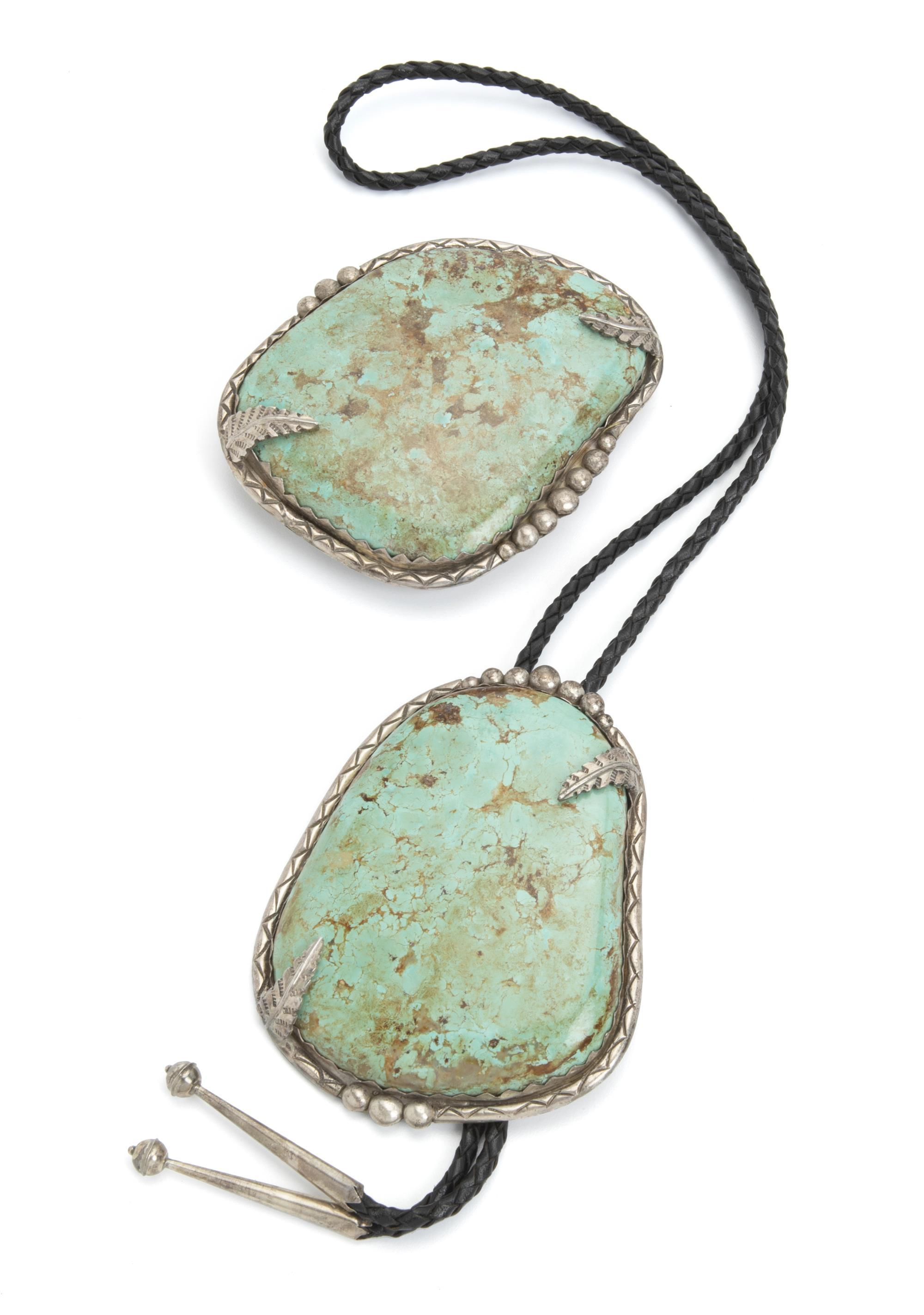 Two Felix Chama turquoise and sterling silver items