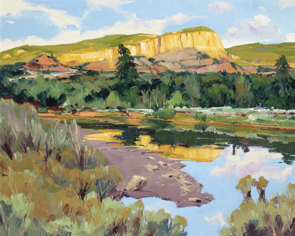 "William C. Hook, (b. 1948, American), ""Rio Chama Reflection"", Acrylic on canvas, 24"" H x 30"" W"