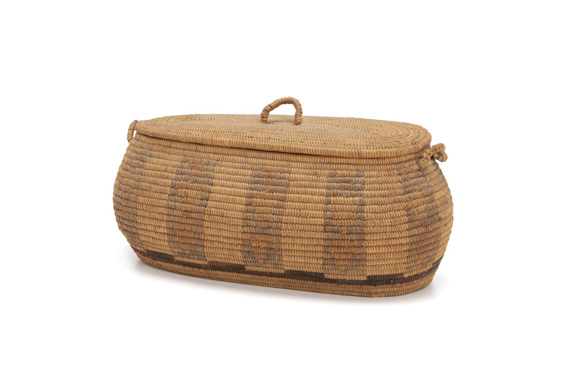 A Paiute lidded basket