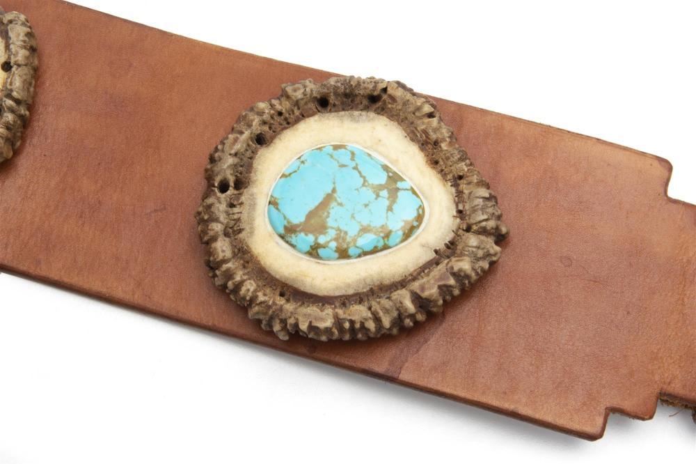 An elk horn belt
