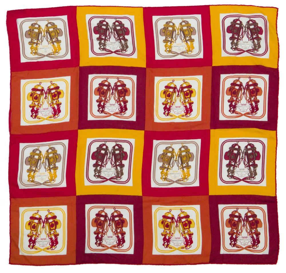 "An Hermès ""Brides de Gala"" cashmere and silk scarf"