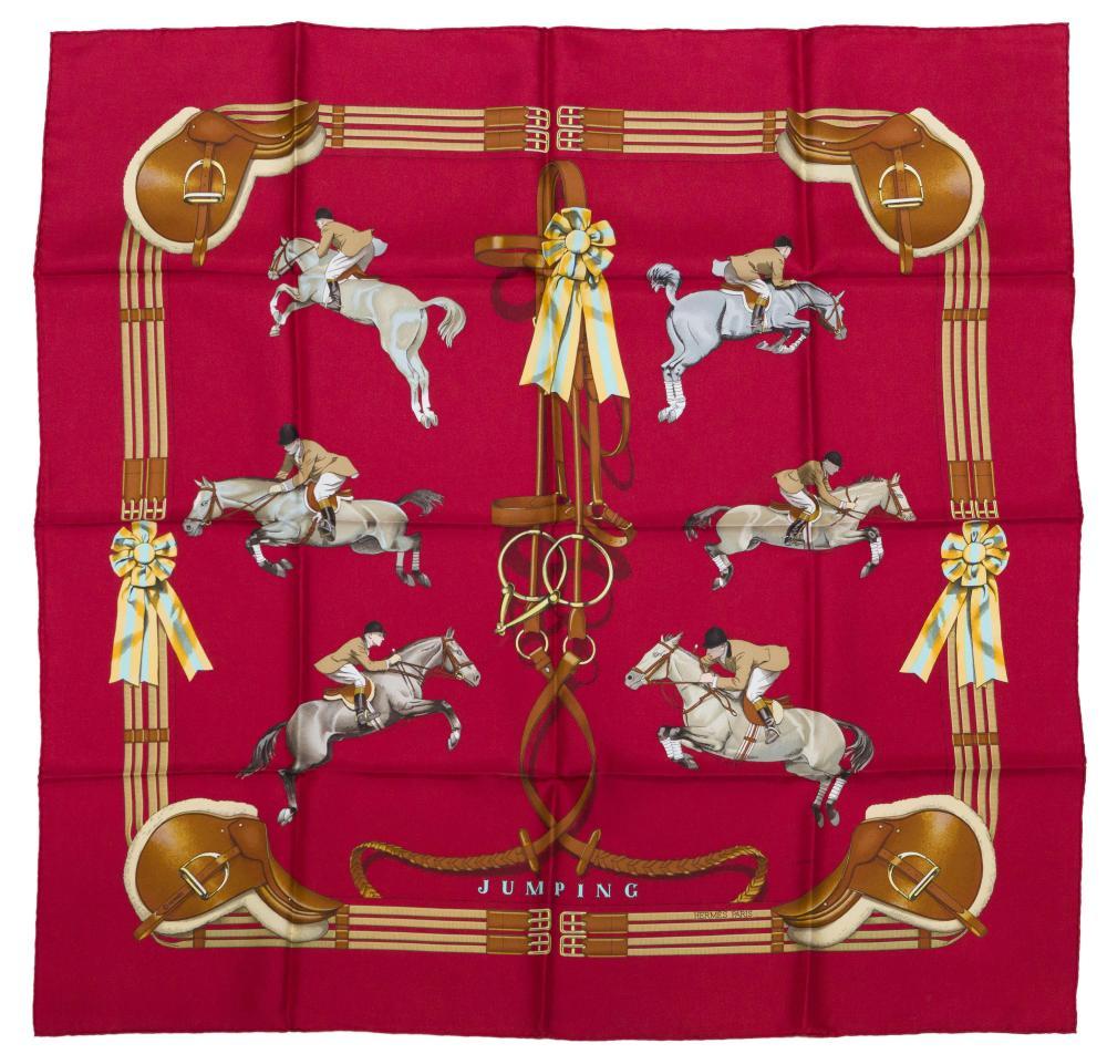 "A Hermès Philippe Ledoux ""Jumping"" silk scarf"