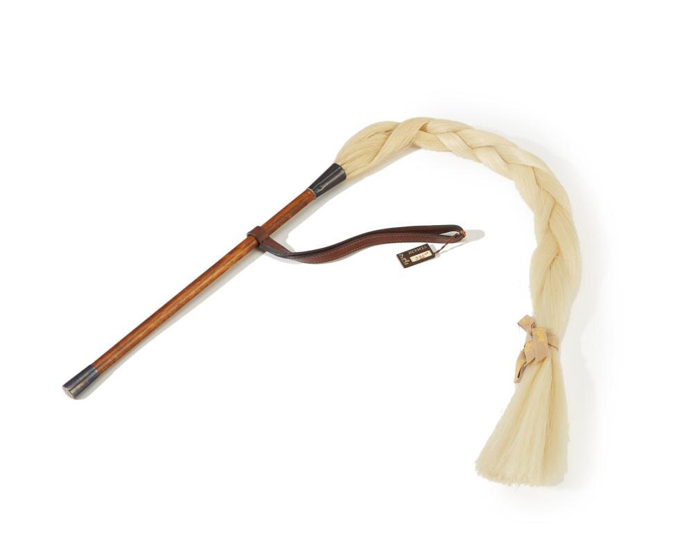 An Hermès braided hair fly whisk