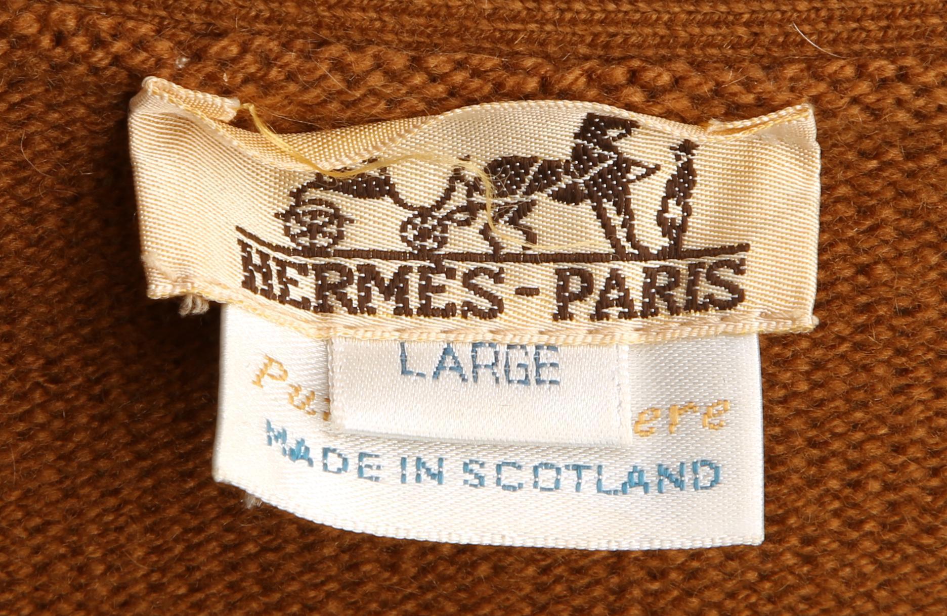 A ladies Hermès cashmere cardigan