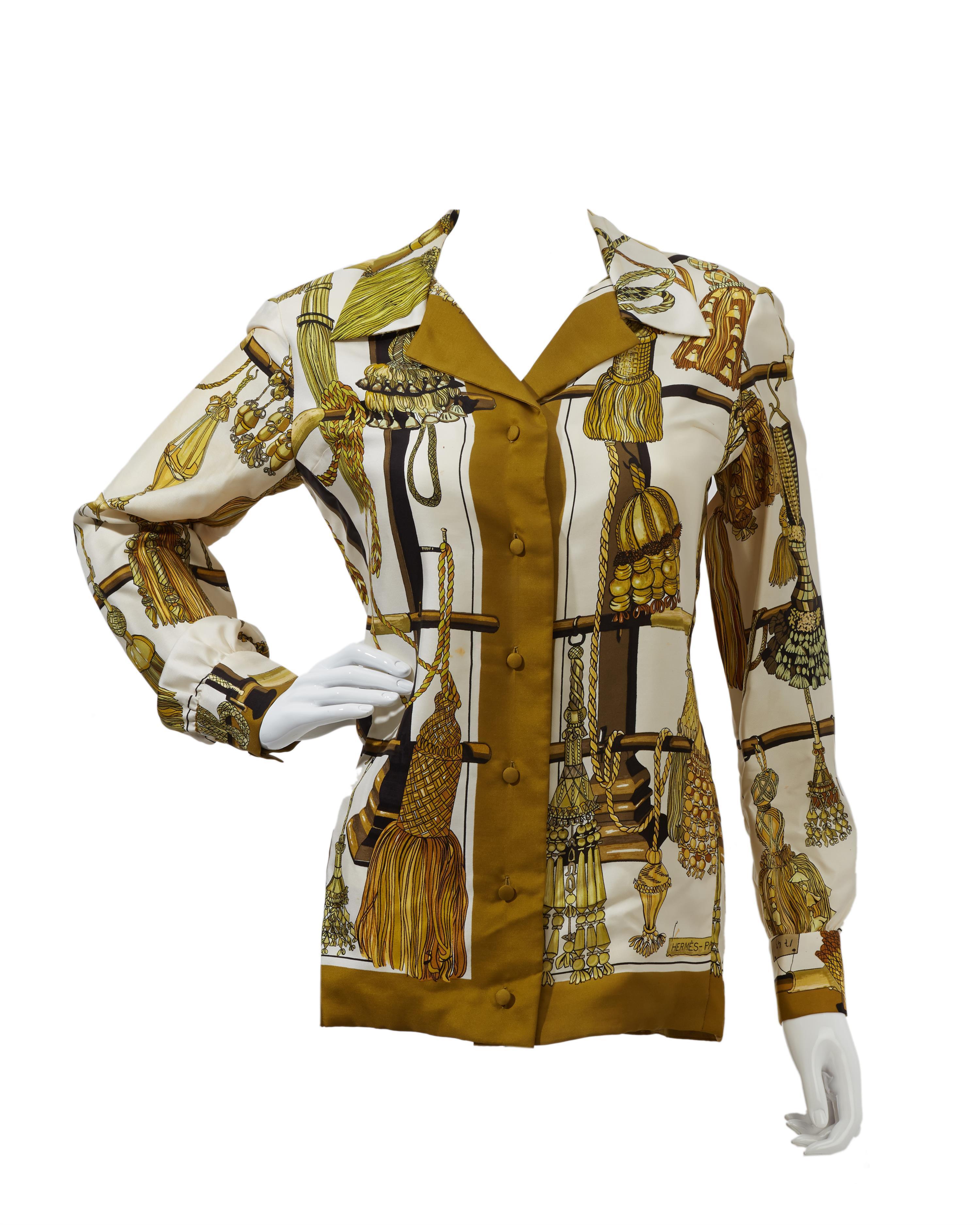 """An Hermès """"Passementerie"""" silk blouse"""